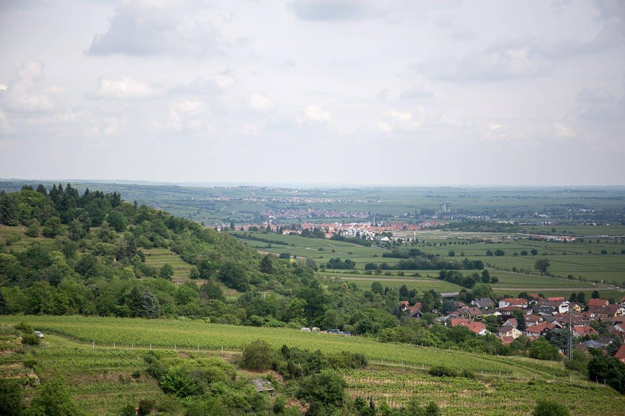 Aussicht von der Wachtenburg (nach Norden)